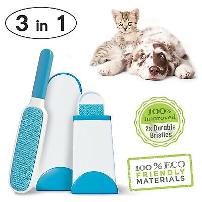 3 in 1 Fur Pet Hair Lint Remover Cleaner Magic Cloth Fluff Fabric Brush Reusable