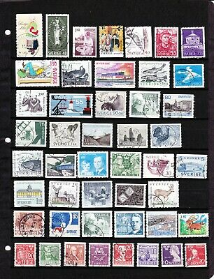 All Different Used Sweden Stamps Lot Collection
