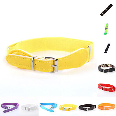 Skinny Belt Children Girls Boys Stretchy Candy Color Toddler PU Leather Elastic