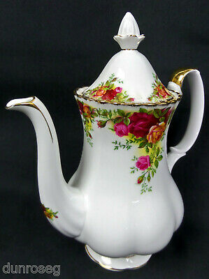 Old Country Roses Medium Coffee Pot, 8 Cups, 1962-73, England, Royal Albert