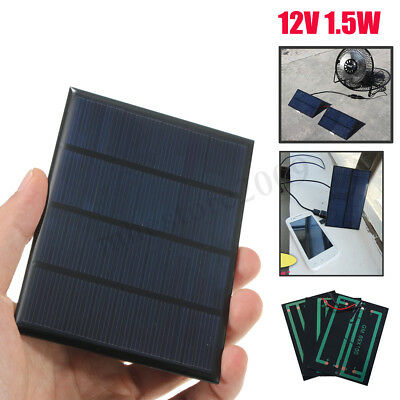 12V 1.5W Mini Solar Panel Module DIY Battery Charger for Cell Phone
