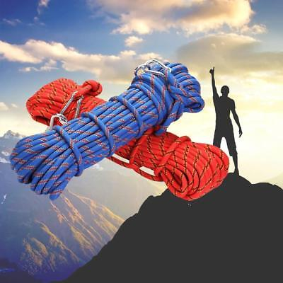 HOT 50M Static Rescue Rope Rock Climbing Rappelling Tree Arborist Cord Outdoor A