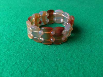 Natural Translucent Stone Bead Bracelet