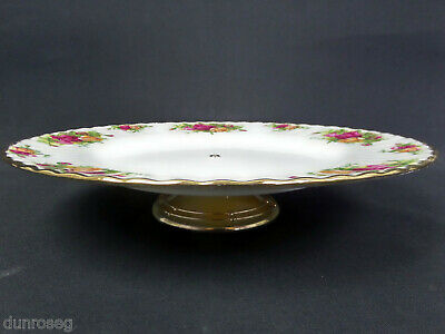 "OLD COUNTRY ROSES 26cm 10"" CAKE STAND / LOW 'BELL' COMPORT, 1st QLTY, GC, ALBERT"