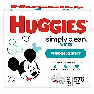 Simply Clean Fresh Scented Baby Wipes Soft Pack 576 Count Hot