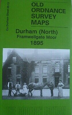 Old Ordnance Survey Maps Durham North Framwellgate Co Durham 1895 Godfrey Edit