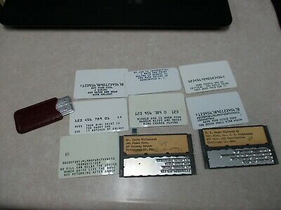 Vintage Lot Of Charge Plates Steel Corp Pittsburgh, Ohio & Rare Gag Card Inserts