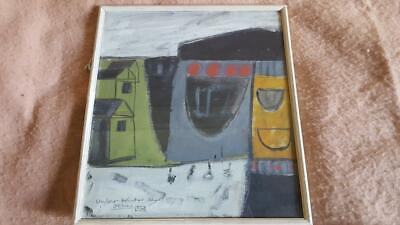 """Superb Cornish School Abstract Study Titled """"Under Winter Skys St Ives"""""""