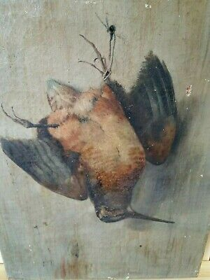 Antique 19th Century Oil Painting Canvas relined Woodcock Attr. See grouse list