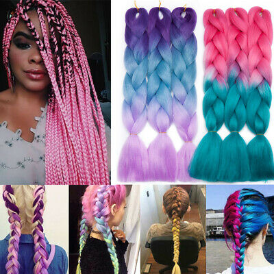 "US 24"" Xpression Braiding hair Kanekalon Ombre Jumbo Braids Weaving Box Twist 24"