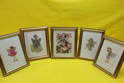 Framed Cross Stitch Fairies Fairy Collection Pictures X 5 ##Rec 55 Lc