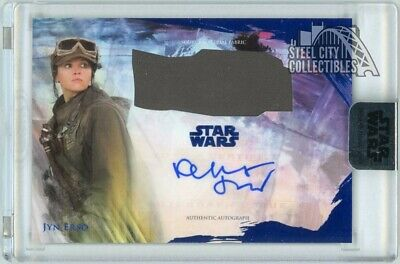 Felicity Jones Jyn Erson 2018 Topps Star Wars Stellar Signatures Auto Blue 18/25