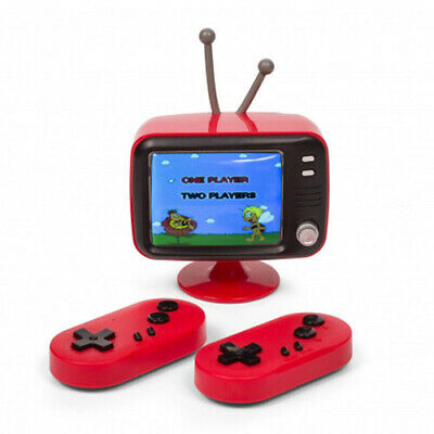 thumbsUp Battery Powered  2.8-inch LCD Retro Mini TV Console With 2 Joypads