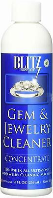 Gem Jewelry Cleaner Concentrate for Solution Ultrasonic Cleaning Machine 8 Oz