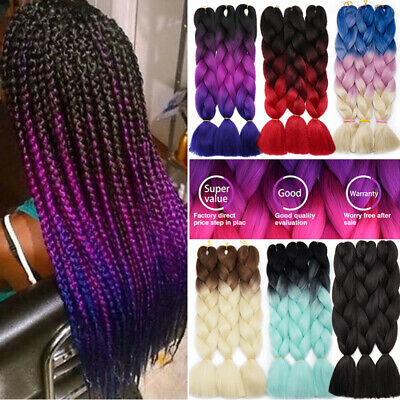 US Bulk Sale Xpression Braiding hair Kanekalon Ombre Jumbo Braids Afro Box Twist