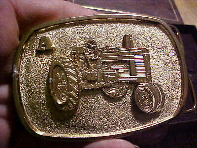 old Belt Buckle john deere MODEL A TRACTOR EMBOSSED 116 OF 250 MADE,FARM POWER