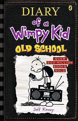 Diary of a Wimpy Kid 10: Old School by Jeff Kinney Paperback Book Free Shipping!