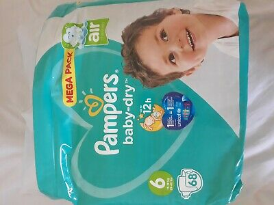 COUCHES PAMPERS T6 NEUF68 couches  + Paquet ouvert de 60 couches offert