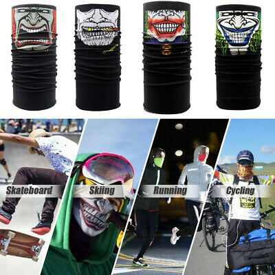 Cycling Motorcycle Neck Tube Face Mask Ski Scarf Balaclava Halloween Party Style
