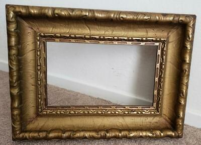 """Antique Very Ornate 6 1/2"""" x 11"""" Molding 3"""" Wood  Gesso Picture Frame Victorian"""