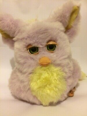 Funky Furby Pink Yellow Electronic Pet Hasbro 2006 Rare Green Eyes