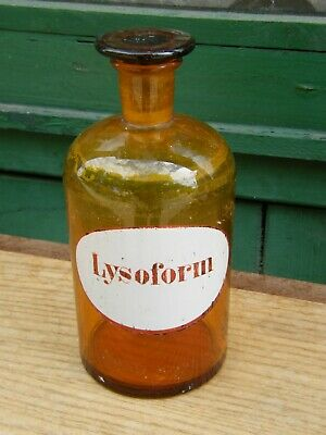 Botella de Farmacia Farmacia Antiguo Lysoform
