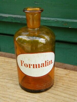 Botella de Farmacia Farmacia Antiguo Formalin
