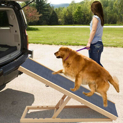 Wooden Dog Pet Puppy Ramp Ladder for Daschund Doxie Sausage Chihuahua Doggy UK