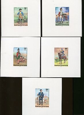 AMERICAN REVOLUTION BICENTENNIAL Proof Cards #C139 -43 MNH Central Africa ARB-08