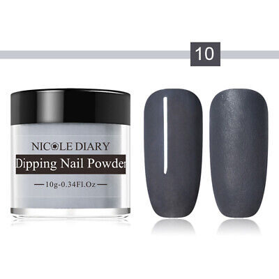 10ml NICOLE DIARY Dipping System Powder Long Lasting Natural Dry Nail Art Dust