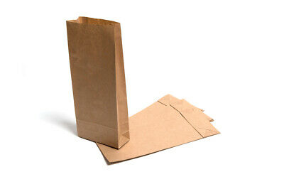 4 sizes Brown SOS Paper gusseted & Block Bottom Bags Grocery Shop eco Packaging
