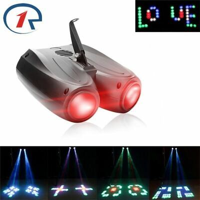 Double Head Airship Projector Lamp Laser Stage Effect Light 20W RGBW 128LED NEW