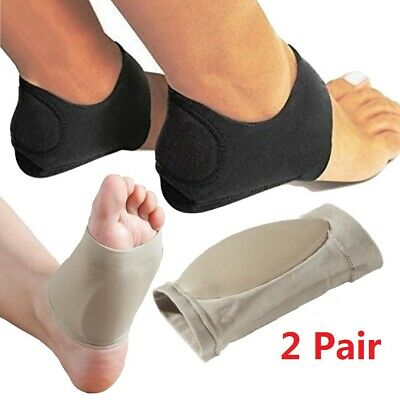 4 Packs Arch Support Gel Orthotic Insole Plantar Fasciitis Foot Sleeve Cushion