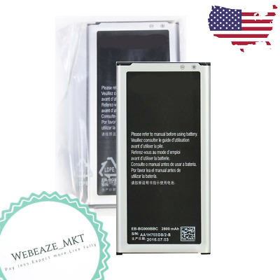 OEM Battery Replacement for Samsung Galaxy S5 Genuine BG900BBE 2800mAh (2 PCS)