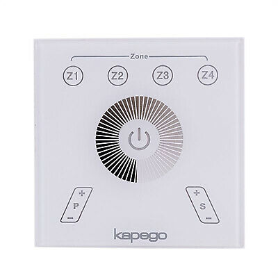 Pannello controller luci LED touch panel RF 4 zone dimmer sincronizzabile 220V