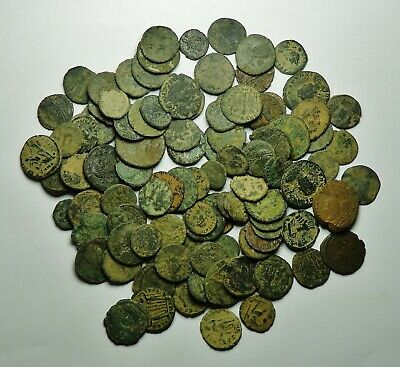 100 Small As Found Low Grade Roman Bronze Coins (726K)