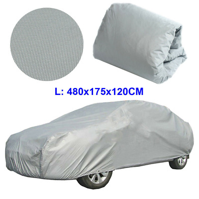 Full L Car Cover Waterproof Outdoor Sun UV Snow Dust Rain Resistant Protection