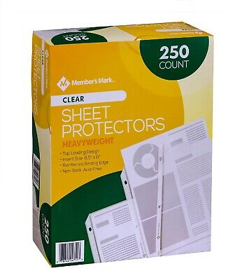 Members Mark Clear Poly Document Sheet Protectors 250 ct. use w/ 3 Ring Binders