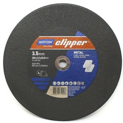"NORTON CLIPPER® 300mm 12"" INCH METAL CUTTING DISC BLADE 300 x 3.5 x 20.0mm STEEL"