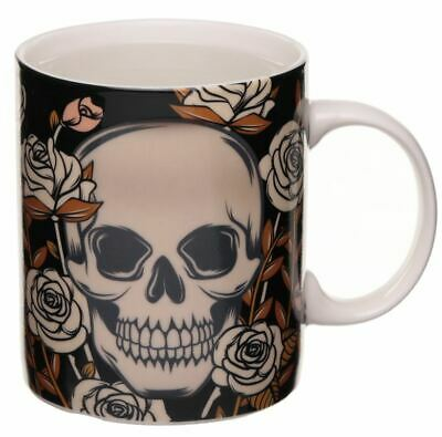 Novelty Gothic Skull Colour Heat Changing Magic Coffee Mug Cup New In Gift Box