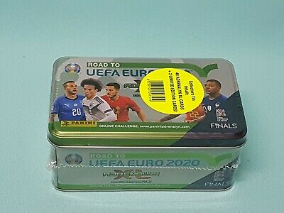 Panini Road to Uefa Euro 2020 Adrenalyn XL Tin Box Dose 2 x Limited Edition Neu