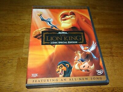Walt Disney THE LION KING 2 Disc Special Platinum Edition DVD 1994 Authentic