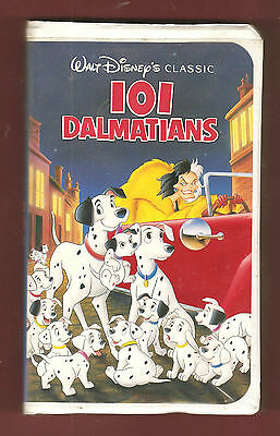 """101 DALMATIANS"" 1961 (Walt Disney Home Video) Black Diamond Classic BIG Box vhs"