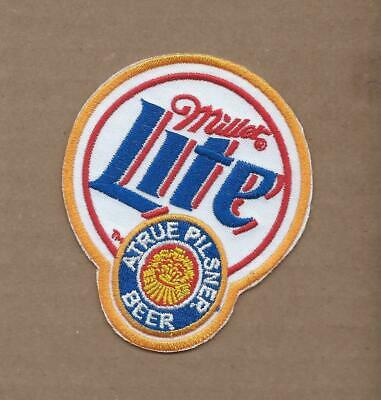 New 2 3/4 X 3 1/4 Inch Miller Lite Beer Iron On Patch Free Shipping