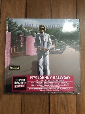 Album Cd Johnny Hallyday Livre Hollywood Super Deluxe Edition Neuf Sous Blister