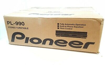 PIONEER PL-990 Automatic Turntable in Black - New in Box
