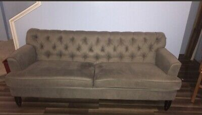 Pleasant Gray Sectional Sofa With Ottoman Local Pickup In Columbia Machost Co Dining Chair Design Ideas Machostcouk