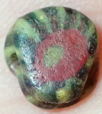 7mm Ancient Rare Roman Glass bead, 1800+Years Old, #S766
