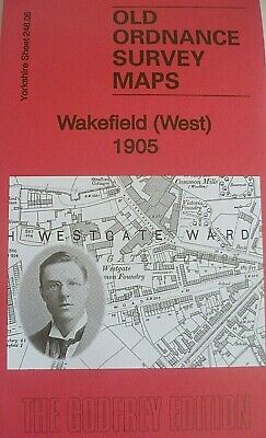 Old Ordnance Survey Detailed Maps Wakefield West Yorkshire 1905 Godfrey Edition