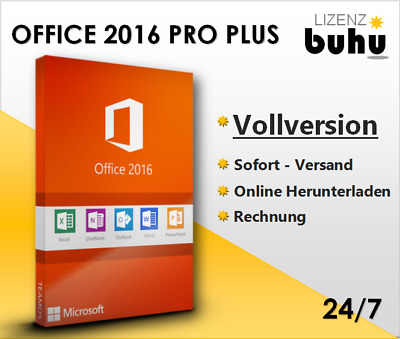 MS Office 2013/2016 Pro Plus , 32&64 Bits , Produkt / Key per E-Mail